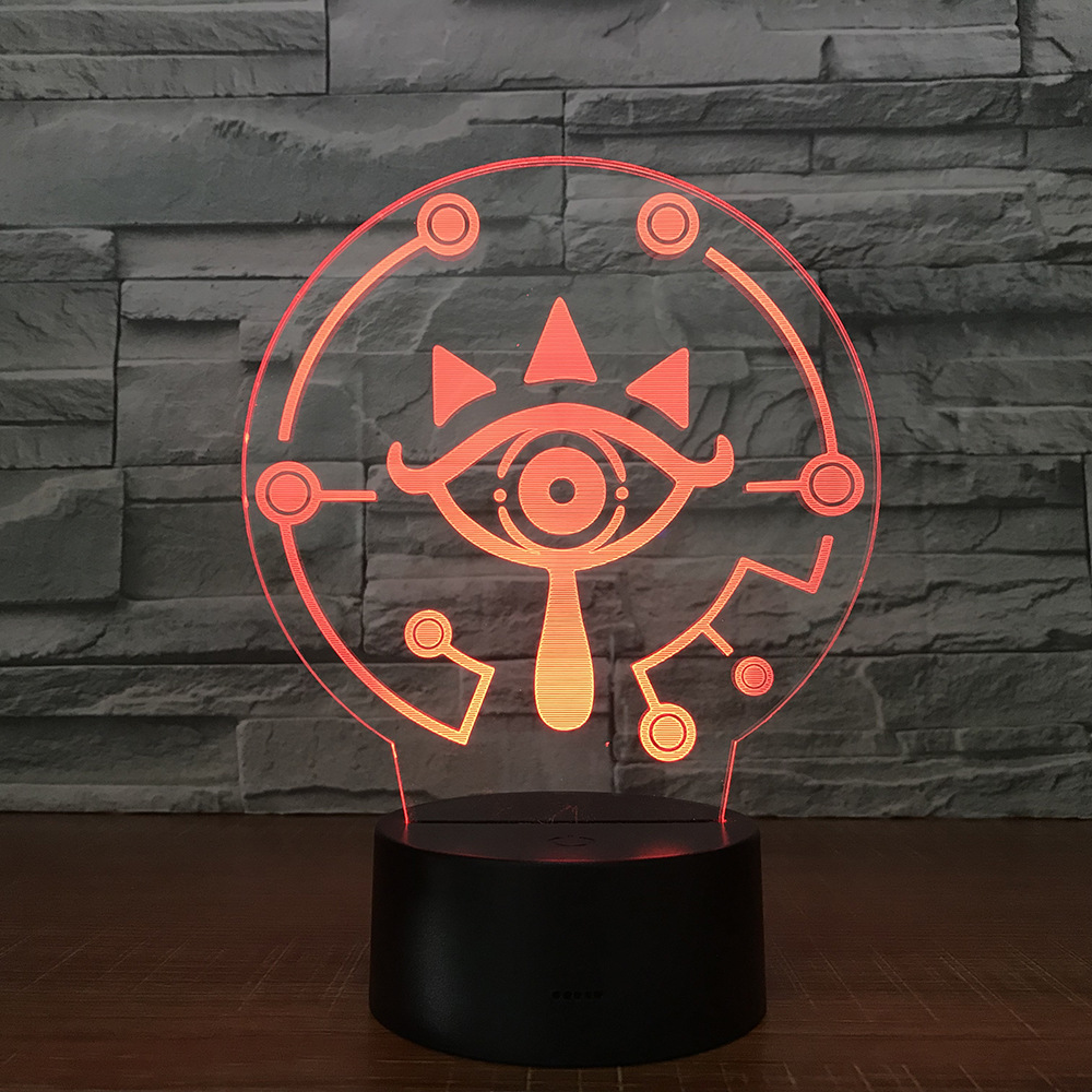 The Legend Of Zeldas 3D Table Lamp Link  BREATH OF THE WILD LINK Nightlight 7 Color Changing Visual Illusion Light Drop Shipping