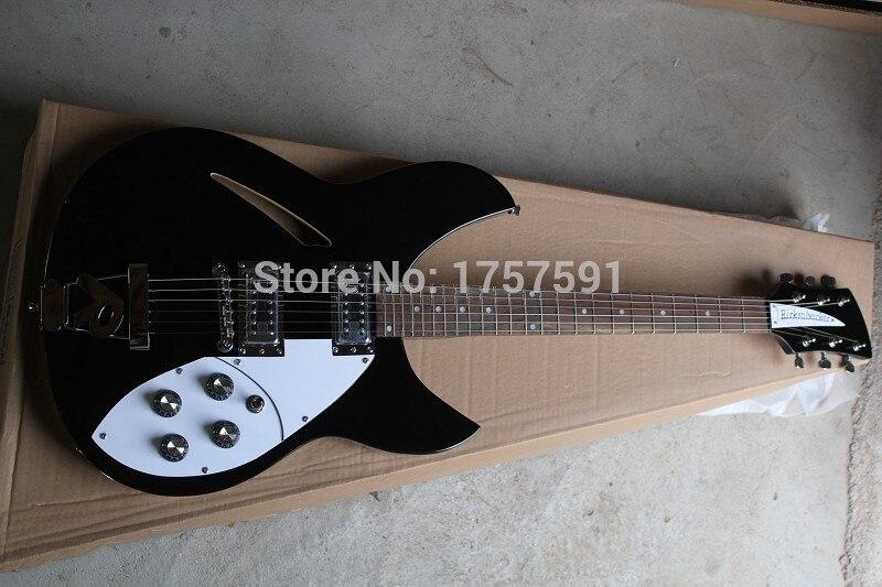 Бесплатная доставка Высокое качество 6 струн 330 Модель Rick Semi Hollow Ricken гитара 2 пикапы R Tremolo синяя Электрогитара в наличии