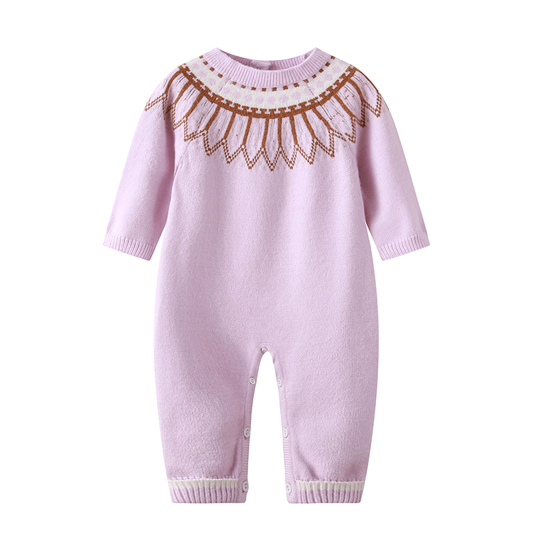 Auro Mesa baby knit sweater Long Sleeve Baby Winter Knitted   Romper   Newborn Winter Clothes