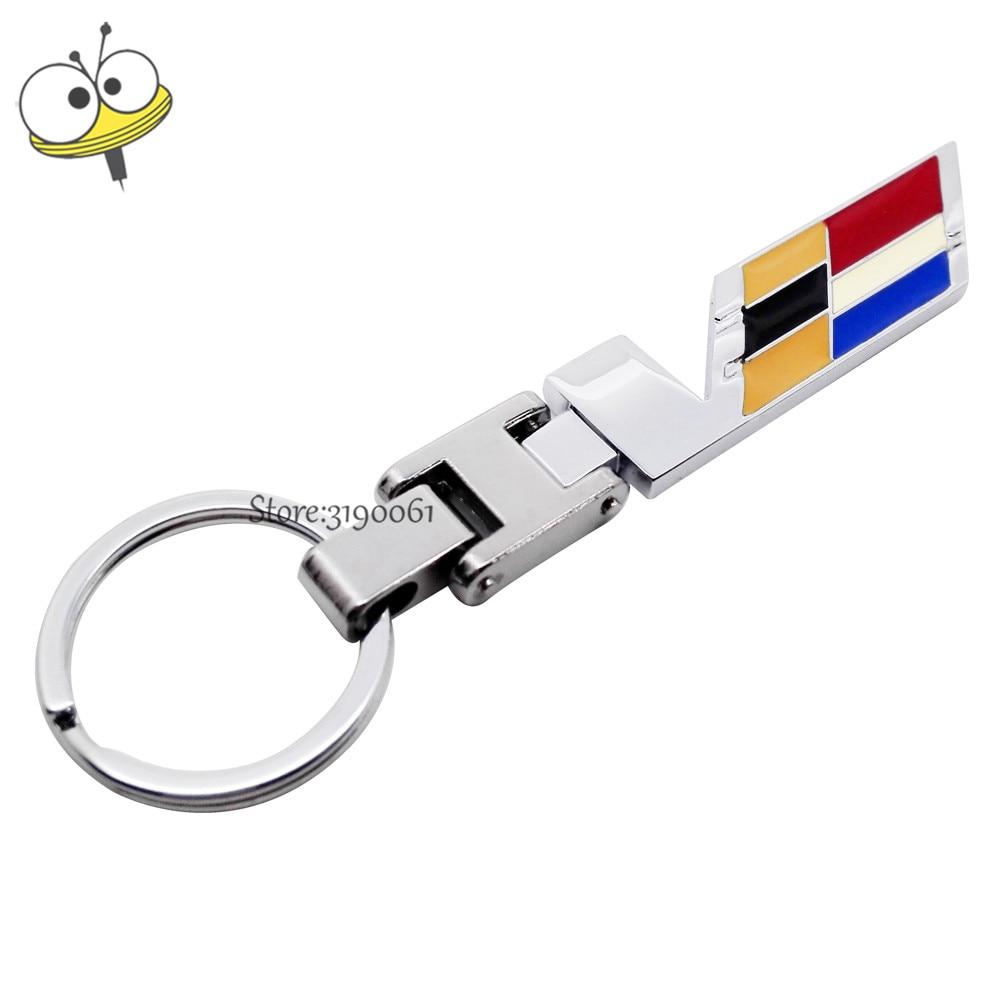 Car Accessories Car Keychain Key Rings Key Decoration For Cadillac Escalade CTS CT6 ATS SRX XT5 XTS BLS Deville Seville XLR STS