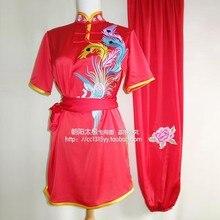 Customize Chinese wushu uniform Kungfu clothing Martial arts taolu match suit embroidery for women men boy girl children kids
