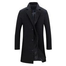 2016 neue Ankunft Wolle Mischung Anzug Design Wollmantel männer Casual Trenchcoat Design Slim Fit Büro Anzug Jacken Mantel Für Männer