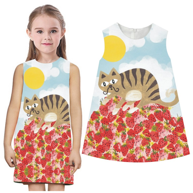 baby girls dresses bibs floral print children dress