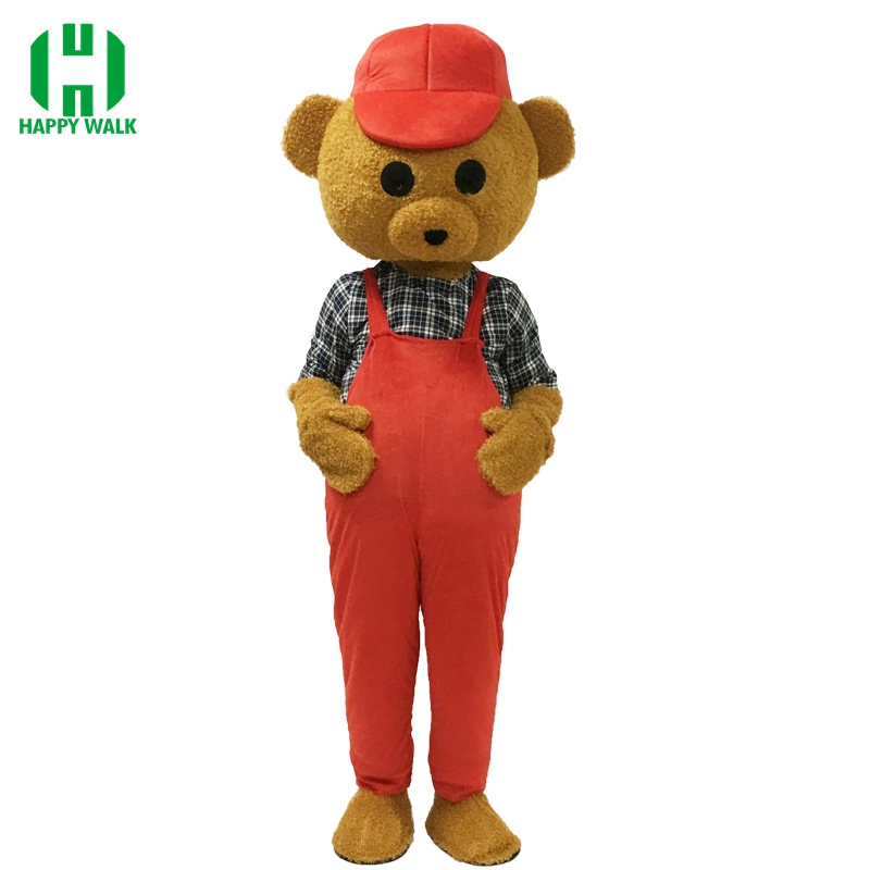 Brand New Design Adult Teddy Bear Mascot Costume Carnival Party Costume High Quality Fancy Dress Clothing Christmas Party Suit