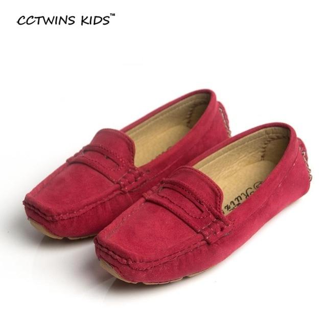 CCTWINS KIDS spring summer autumn boy moccasin shoe children shoe baby boy shoe kid flat shoe kid ommino boot brown leather blue