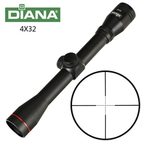 Tactical DIANA 4X32 Riflescope Mil Dot Reticle Hunting Optical Sight Rifle Scope