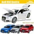 1:32 Масштаб Литья Под Давлением Сплава Металла Роскошный ВНЕДОРОЖНИК Модель Автомобиля Для Audi RS6 Quattro Коллекция Модель Pull Back Toys Автомобиля С звук и Свет