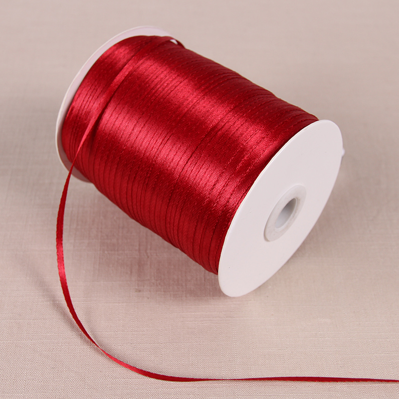 3 мм атласные ленты 22 м/лот DIY ручной работы товары для украшения свадьбы, дня рождения Подарочная упаковка белые ленты