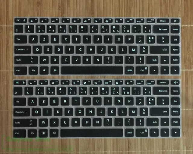 Powforward clavier français azerty Silicone housse de clavier d'ordinateur portable pour Xiao mi mi Notebook Pro 15 15.6 protecteur de peau film Francaise
