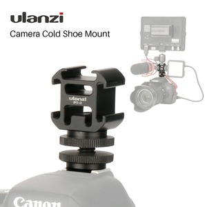 Image 1 - Ulanzi לשלושה 3 קר נעל הר על המצלמה נעל הר תמיכה BY MM1 מיקרופון וידאו LED אור עבור DSLR ניקון Canon