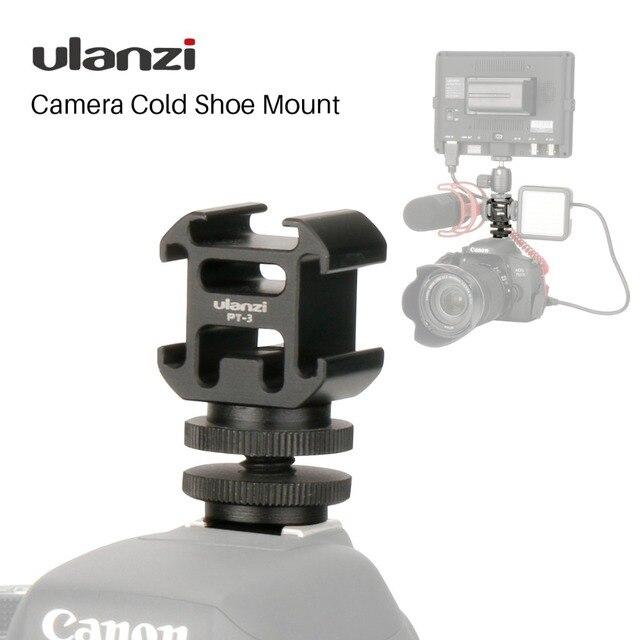 Ulanzi לשלושה 3 קר נעל הר על המצלמה נעל הר תמיכה BY MM1 מיקרופון וידאו LED אור עבור DSLR ניקון Canon