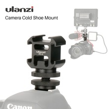 Ulanzi Triple 3 Cold Shoe Mount On Camera Shoe Mount Support BY MM1 Microphone Video LED Light for DSLR Nikon Canon