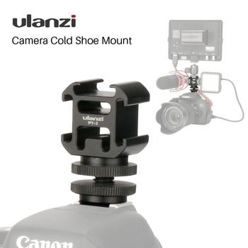 Ulanzi Triple 3 Cold Shoe Mount Op Camera Shoe Mount Ondersteuning BY-MM1 Microfoon Video LED Light voor DSLR Nikon Canon