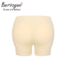Burvogue Women Butt Hip Shapers Enhancer Seamless Padded Shaper Control Bodyshort Panties Underwear Hot Brief Shapewear Pants