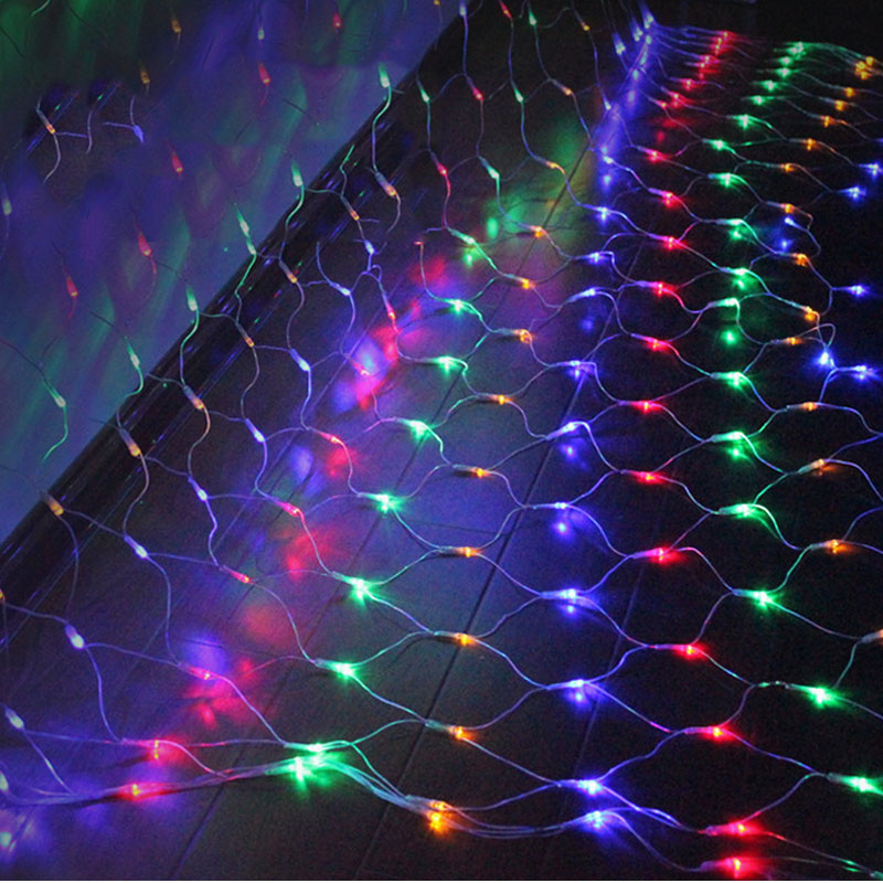 SPLEVISI 1.5M*1.5M 3X 2M LED Net Mesh String Fairy Lights Christmas Lights Home Party Wedding Christmas Tree Decoration Lights