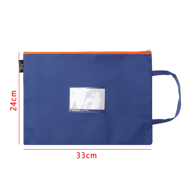 Nouveau Oxford tissu mallette daffaires papier stockage sac avec fermeture à glissière A4 dossier Document sac école bureau papeterie fournitures