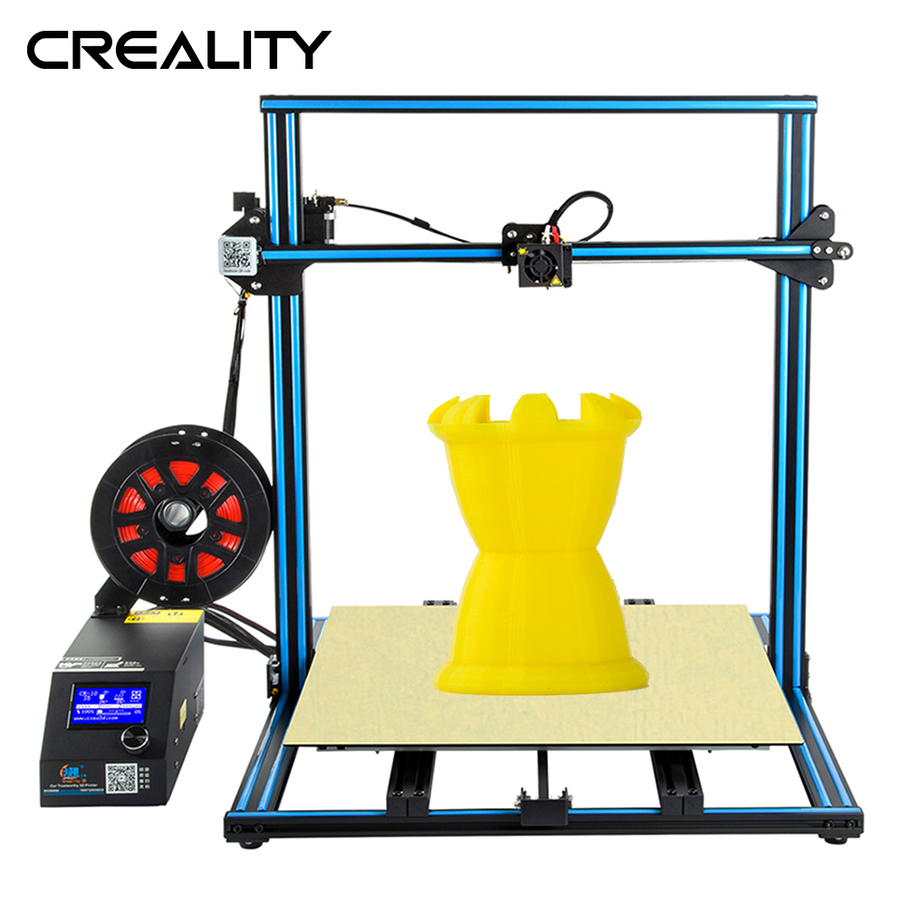 Full Metal Plus Size 500*500*00 MM Criatividade 3D CR-10 S5 Com Dua Z Rod Filament Printer sensor de Detecção de Retomar o Poder Off 3D Impressora