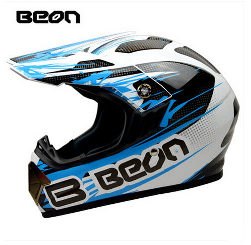 Netherland BEON мотоциклетный шлем для мотокросса высшего качества рыцарь внедорожный мотоциклетный защитный шлем из АБС B-600 Размер M L XL - Цвет: Bright white blue