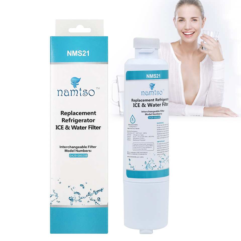 New Water Purifier Namtso NMS21 Household Refrigerator Ice & Water Filter Compatible with Samsung DA29-00020B/A HAF-CIN 1 Piece цена и фото