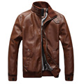High quality  Brand men genuine leather jacket short motorcycle jackets/clothing slim spring and autumn  Coat 78hfx
