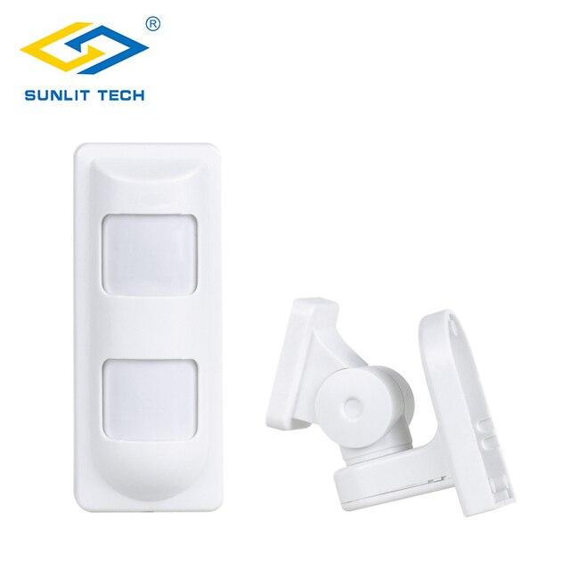 4 шт. беспроводной 433 МГц двойной PIR датчик движения инфракрасный ПЭТ-детектор движения, сигнализация для GSM/PSTN домашняя охранная сигнализаци...