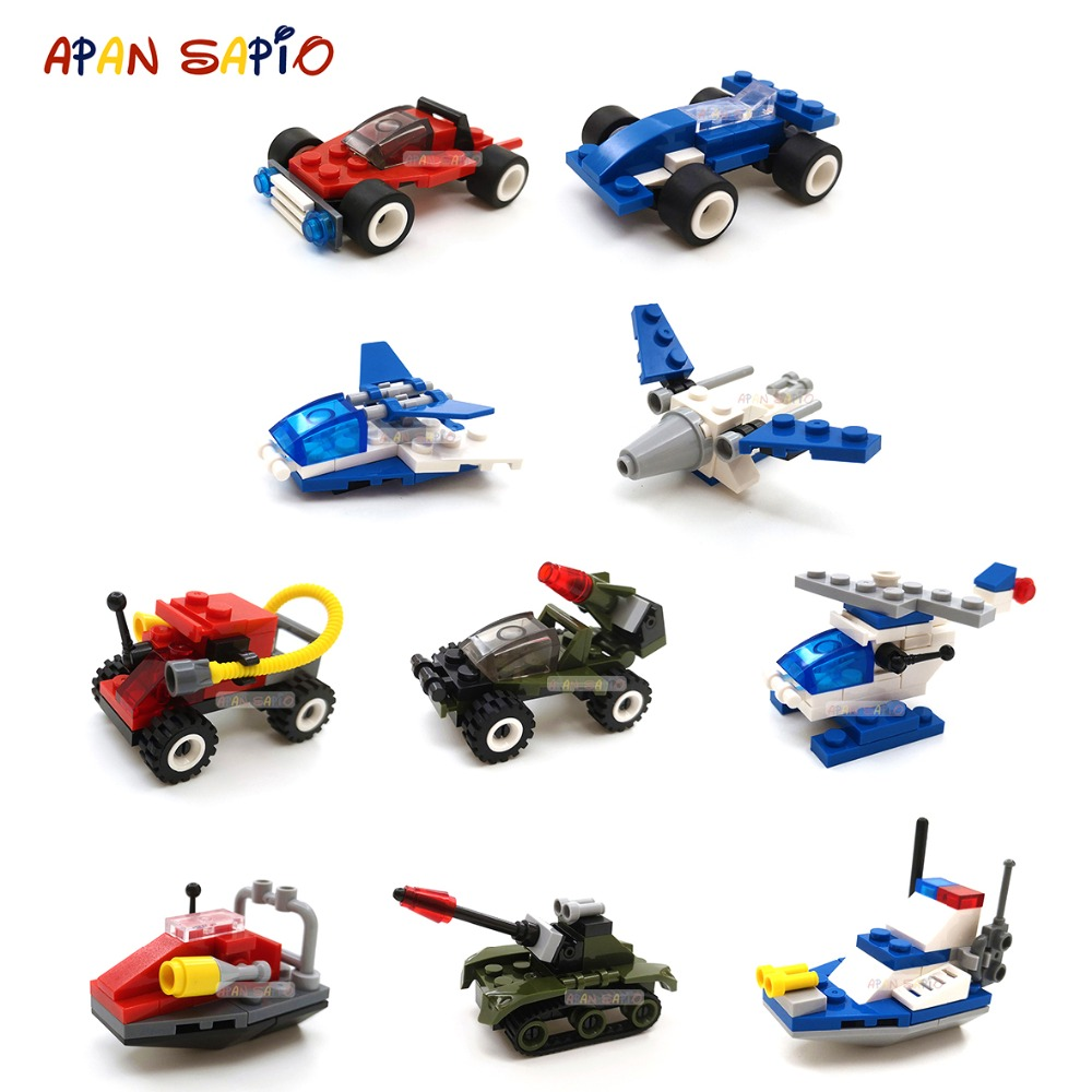 Building Blocks Figures Bricks Mini Size City Car Model Series Compatible Brands Educational Toys For Children Birthday Gift