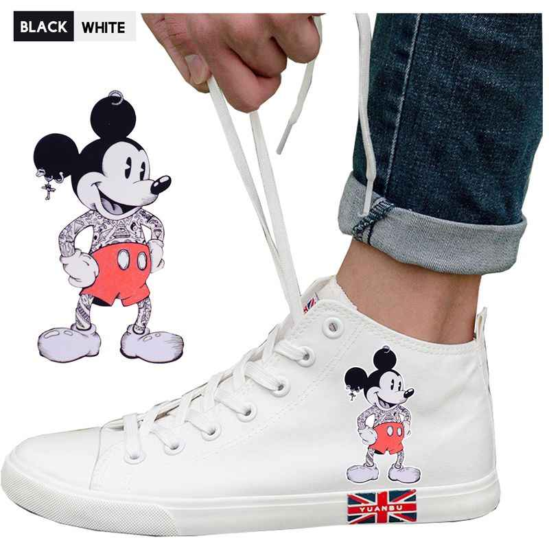 Duck Mouse Cute Cartoon Cartoon Pattern Printing Sports Shoes Illustration High Heel Breathable Canvas Uppers Fashion A19516