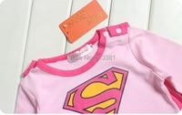 goldbuddy 4 шт./партия супер девочка ползунки платье для малышей свободное плащ мода костюм для маленьких детей короткий рукав розовый цвет