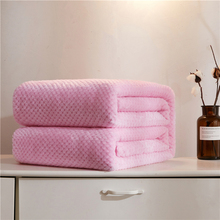 280Gsm Soft Warm Coral Fleece Flannel Blankets For Beds Solid Pink Bed Linen Faux Fur Mink Throw Sofa Cover Bedspread Blankets