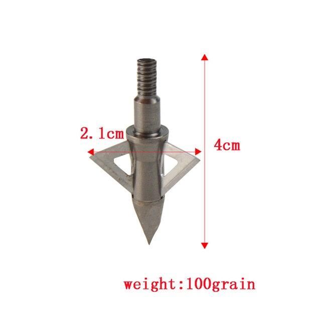 3/6/12 Uds punta de flecha de tiro con arco, puntas de punta de flecha objetivo, 100g puntas de flecha de tiro de caza de acero inoxidable, accesorios