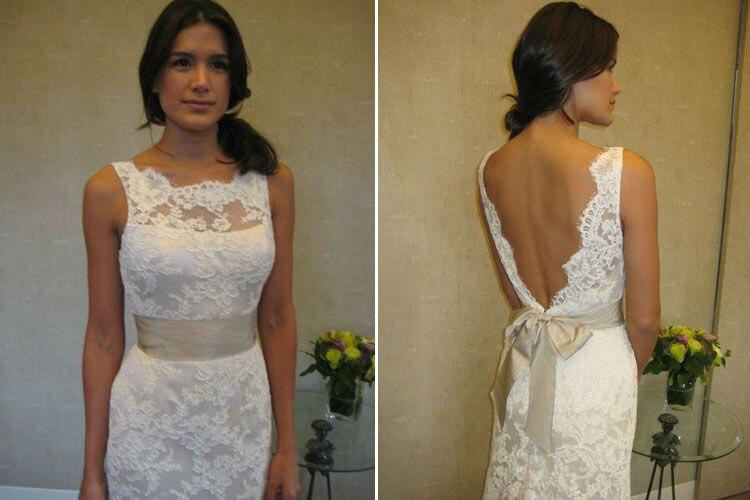 Wa01000 Elegant Off The Shoulder Low Back Off White Lace Wedding