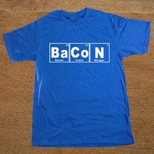 Periodic Table – Chemistry Of Bacon T Shirt Novelty Funny Tshirt Mens Clothing Short Sleeve Camisetas T-shirt