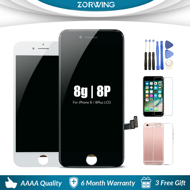 pretty nice 26519 21f90 US $16.25 18% OFF|AAA Quality 4.7 5.5 inch LCD Screen For iPhone 8 Plus LCD  Display Touch Screen Replacement For iPhone 8 8plus LCD Pantalla-in Mobile  ...