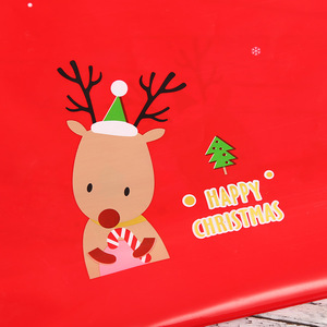 Image 4 - 5pcs Red Plastic Candy Bags Christmas Elk Candy Sweet Treat Bags Xmas Festival Gifts Holders Bake Biscuit Cookies Packaging Bags