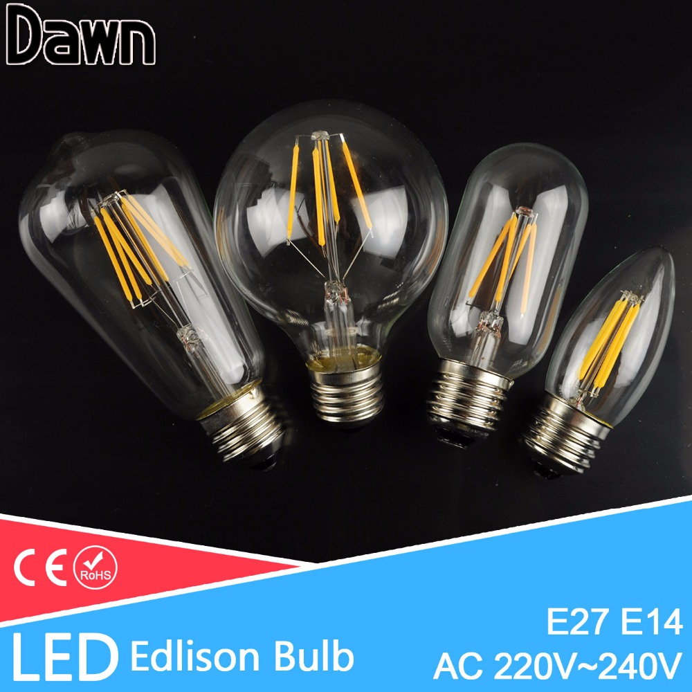 e27 e14 antique led edison bulb vintage led bulb lamp 220v. Black Bedroom Furniture Sets. Home Design Ideas