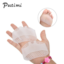 PUTIMI 2 PCS Soft Silicone Gel Insoles Bunion Corrector Breathable Hole Transparent Forefoot Pads Feet Care Pedicure Tools