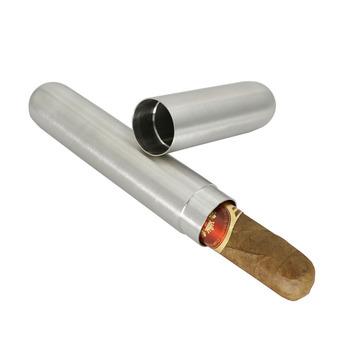 Nowy 1 sztuk ze stali nierdzewnej Cigar Humidor tuba na cygaro futerał do przechowywania przenośny tytoń do przechowywania papierosów na akcesoria cygarowe 17 #215 2 2cm tanie i dobre opinie t1201 Stainless Steel pedestrian China (Mainland) about 86g