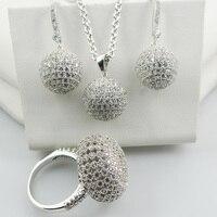 Shiny Fashion Ring&Pendant&Earrings Set For Women 925 Sterling Silver Free Shipping Jewelry Set TT583