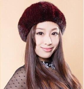 el pelo de visn sombrero de invierno sombrero de piel de pelo de visn de