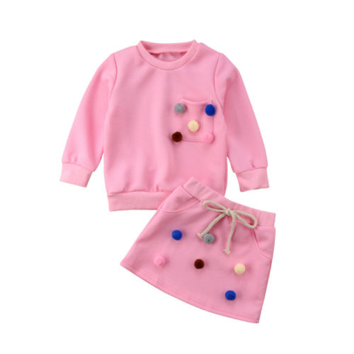 Vetement Fille Toddler Infant Baby Tops Chemise à POIS CULOTTE BANDEAU Outfits