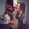 2016 новая Мода Весна Женщины С Длинным Рукавом Свободные Пуловеры Трикотажные Свитера Jumper Трикотаж Пиджаки Пальто