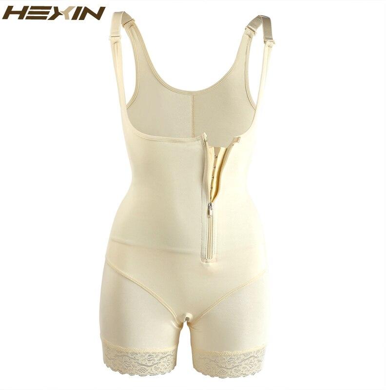 HEXIN Plus Size 6XL Waist Slimming Shaper Lace Underwear Zipper and Hooks  Body Shaper Shapewear Women Full Body Bodysuit