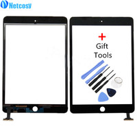Netcosy Touch Screen Digitizer Front Touch Panel Glass Lens for iPad Mini 1 2 TouchScreen Replacement Parts TP + Repair Tools