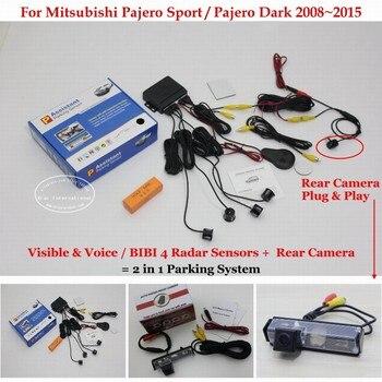 For Mitsubishi Pajero Sport / Dark 2008~2012 2013 2014 2015 Car Parking Sensors Sensor Reverse Rearview Camera Auot Alarm System