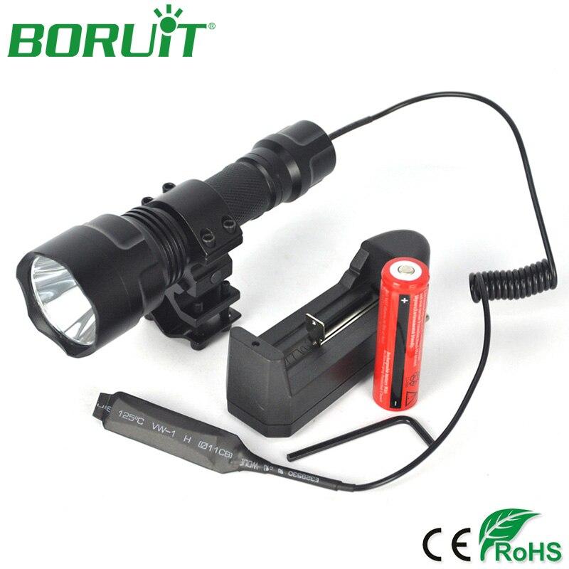 BORUIT Tactique C8 T6 LED lampe de Poche Étanche Extérieur lampe Torche Vélo Lumières De Vélo Portable Lanterne pour Camping Chasse