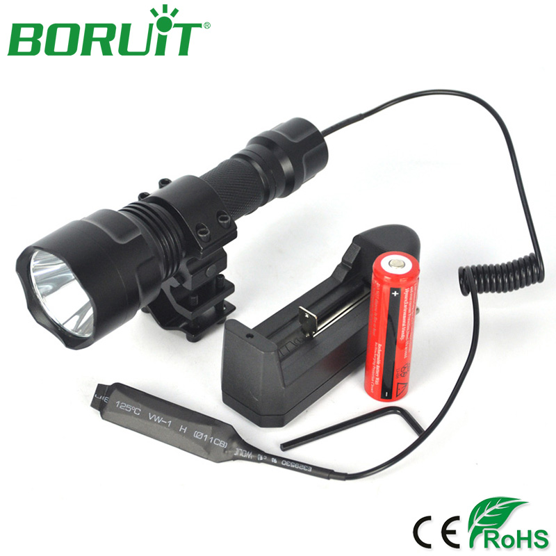 ΞBORUIT táctico C8 T6 linterna LED impermeable al aire libre ...