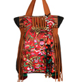 MIYA Brand New 2017 National trend women's embroidered handbag shoulder bag travel bag beaded casual canvas bag Bolsa Feminina