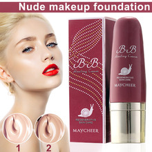 Bb-Cream Foundation Concealer Sponge-Head Whitening Moisturizing with High-Quality Women