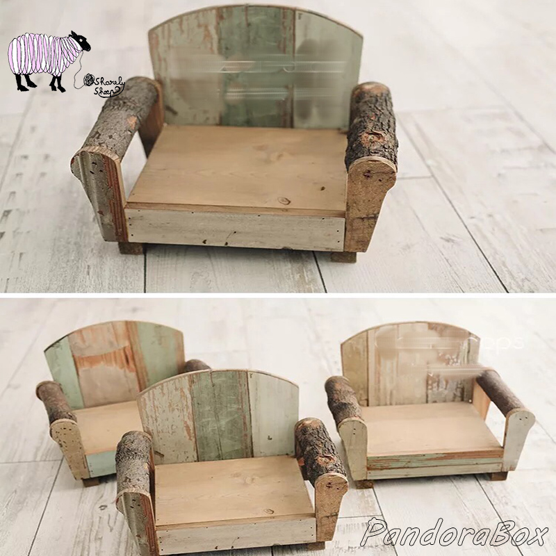 Newborn Photography Props Wooden Sofa Baby Bed Photo Shoot Studio Posing Session Props Bebe Infant Foto Shooting Accessories