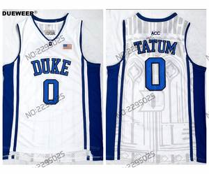 1b01296ecff5 ... elite stitched ncaa jersey b850d 5cd96  coupon for dueweer stitched  white jayson tatum basketball shirts mens throwback duke blue devils b4aa3  6f91e